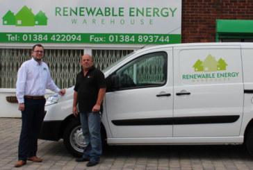 REW competition winner drives away in Peugeot 2015 HDI van