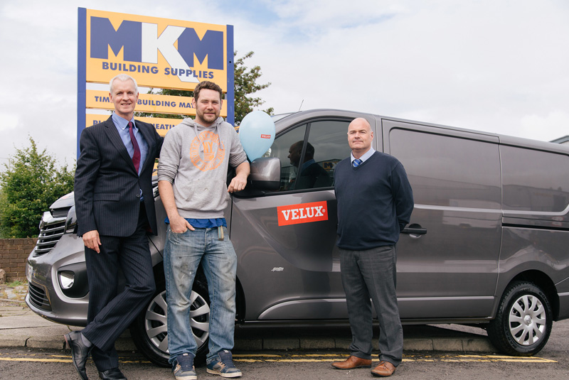 Installer wins van with Velux