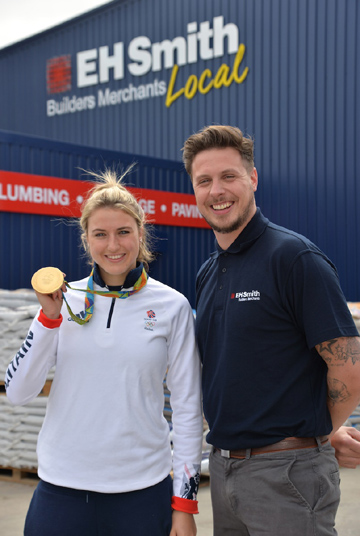 Eh Smith Shirley >> Olympic Gold Medalist Opens New Eh Smith Branch