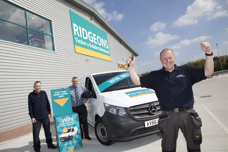 Builder wins Mercedes van at Ridgeons branch