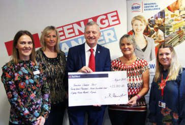 BMF presents donation to Teenage Cancer Trust