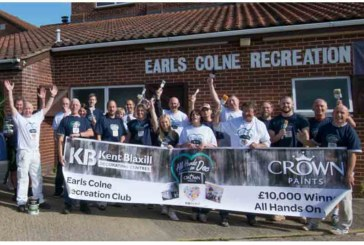 Crown Paints and Kent Blaxill freshen up recreation club