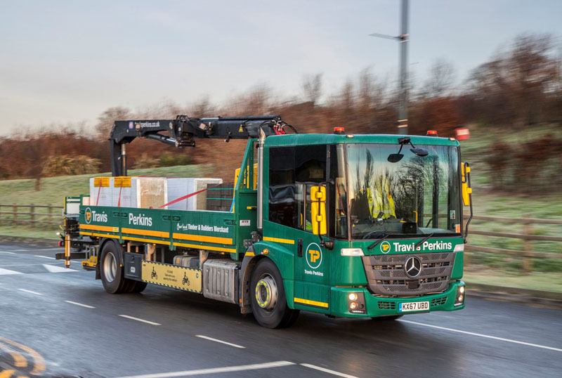 First Mercedes Econic trucks enter service with Travis Perkins