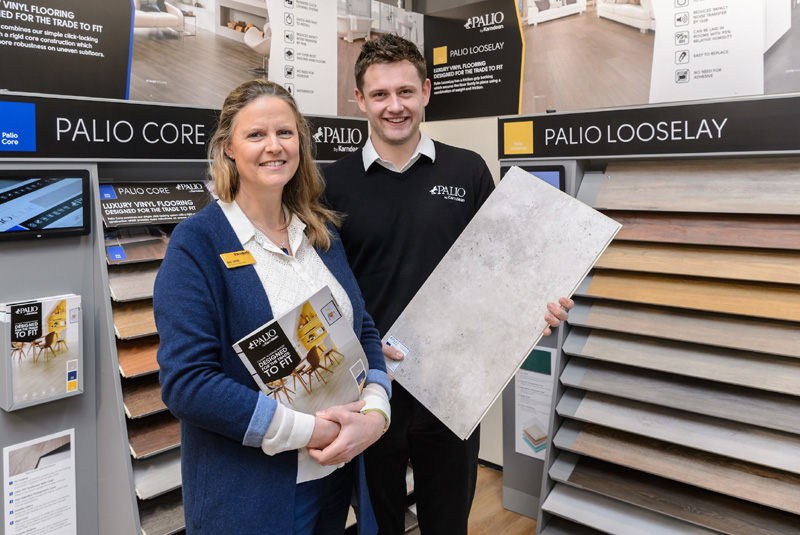 Palio by Karndean showcases new brand and POS display at Bradfords in Yeovil