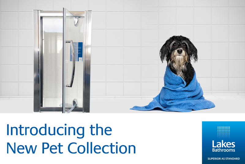 Lakes Bathrooms launch first-ever shower enclosure for pets*