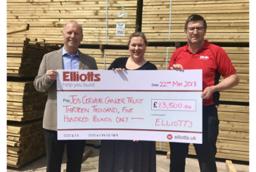 Elliotts donates to Cervical Cancer charity