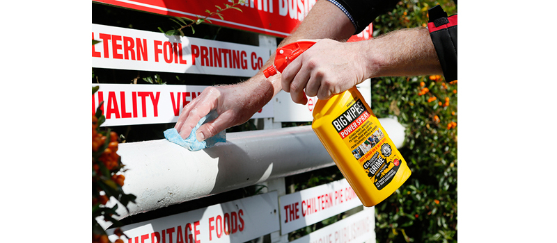 Tackle a life of grime with Big Wipes' Power Spray
