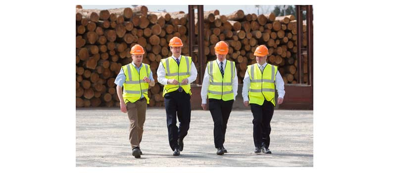 PM visits BSW Timber's sawmill in Newbridge-on-Wye