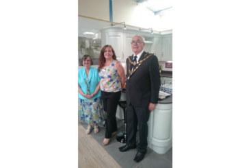 Mayor helps RGB's South Molton branch celebrate 10th birthday