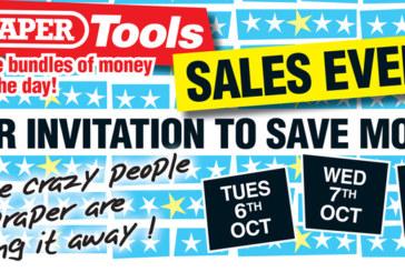 Draper Tools invites you to save money