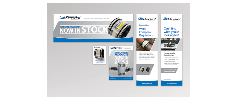 Fresh point of sale items for Flexseal