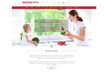 Heatrae Sadia develops fully responsive, easy-to-use website