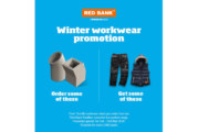 Red Bank details merchant workwear promotion