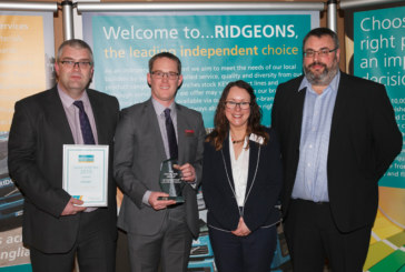 Symphony named Ridgeons' Lightside Supplier of the Year