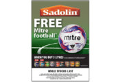 Sadolin launches football-themed Golden Ticket promo