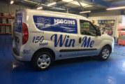 Higgins marks 150th anniversary with van-tastic promo