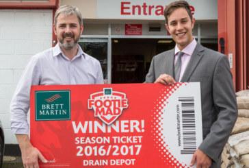 Brett Martin announces Footie Mad competition winner