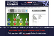 The PBM / Evo-Stik Fantasy Football returns this weekend