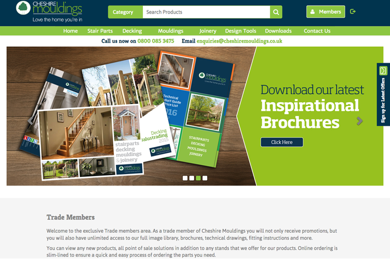 Cheshire Mouldings unveils new website