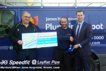 James Hargreaves customer wins JG Speedfit competition