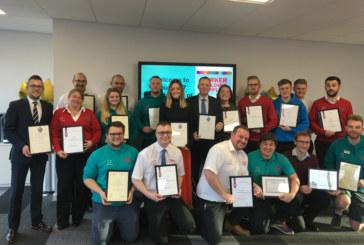Parkers celebrates employee graduates