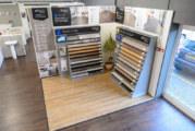 Palio by Karndean POS in Bradfords showroom boost