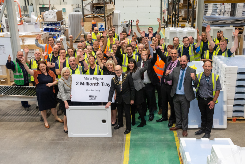 Mira produces two millionth Flight shower tray