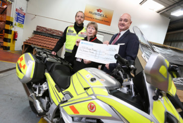 Russell Roof Tiles donates thousands to lifesaving charity