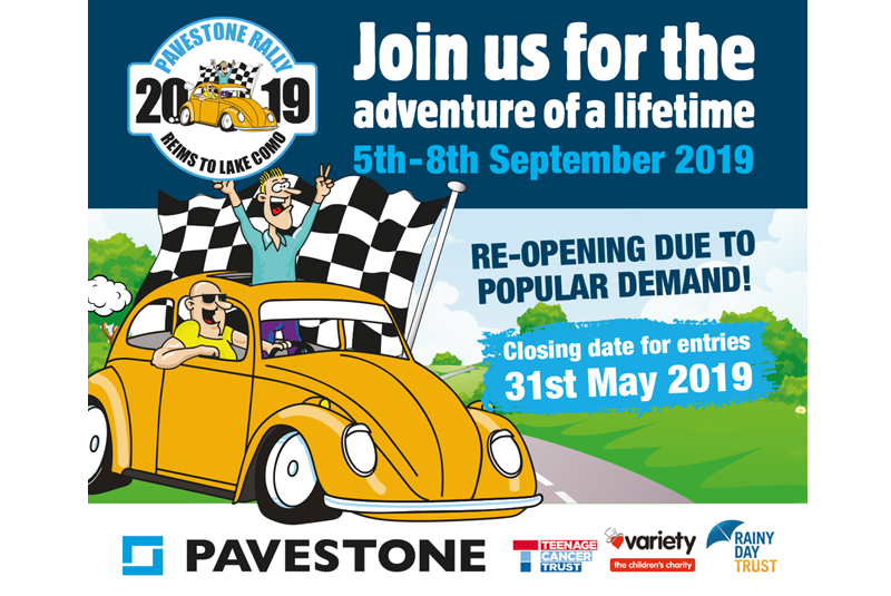 Pavestone Rally entry deadline extended!