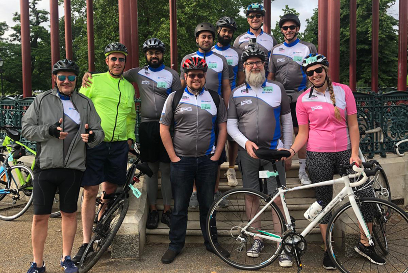 The IPG completes charity cycle