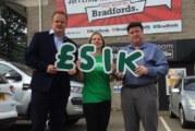 Bradfords raises thousands for charity