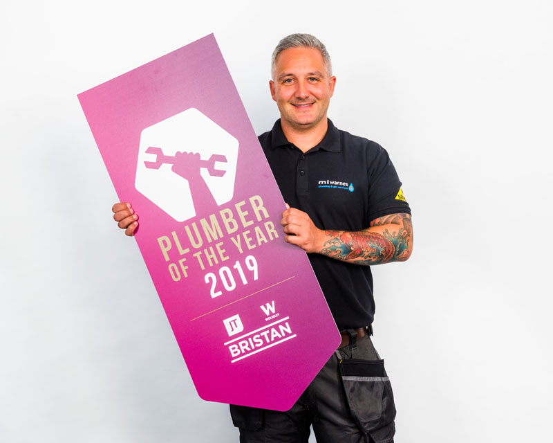Martin Warnes, from Essex, has been crowned the 2019 UK Plumber of the Year, in the nationwide competition run by JT, Bristan and Wolseley UK.