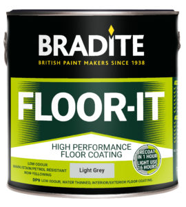 Coating specialists Bradite will launch what is claimed to be the market's fastest drying floor paint at the Painting and Decorating Show in November.