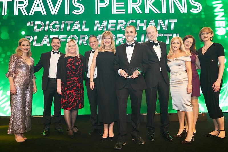 Travis Perkins receives award at UK IT Awards