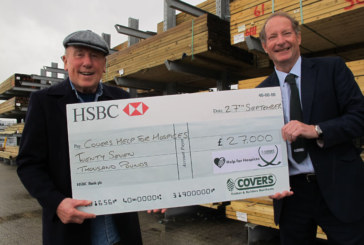 Covers donates over £100,000 to local hospices