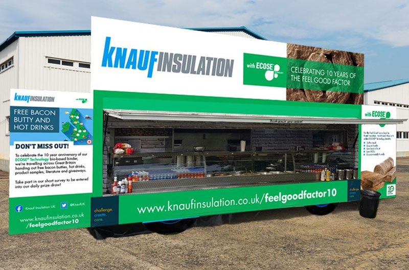 Knauf Insulation's bacon butty tour