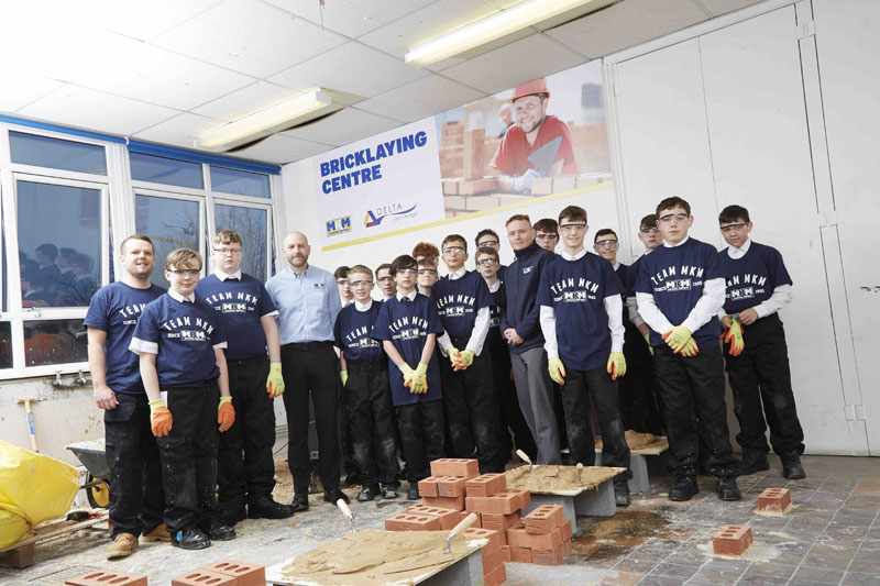 MKM has joined forces with the John Whitgift Academy in Grimsby, to support the Academy's new BTEC Level 2 Construction course launched earlier this year.