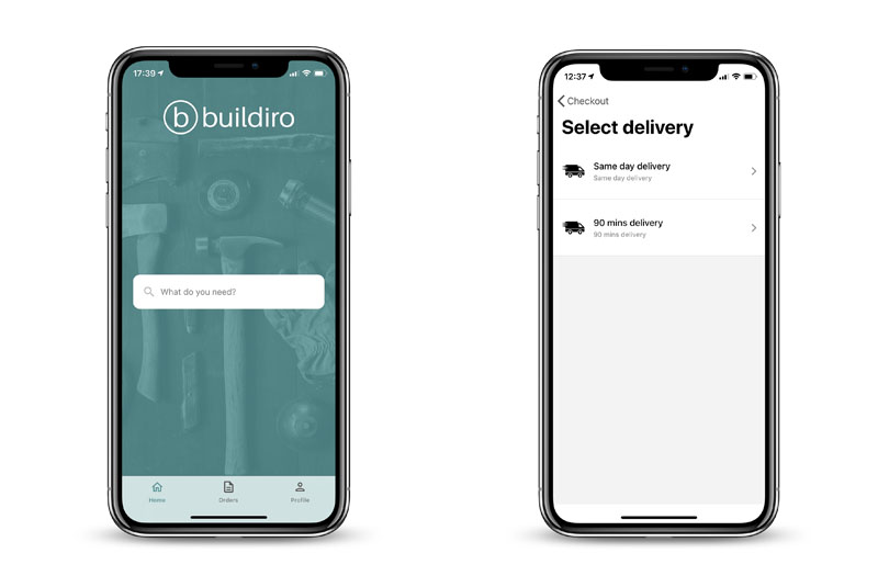 Buildiro offers a 90-minute delivery service