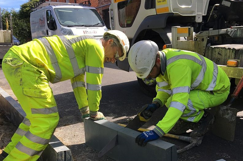 Durakerb's alternative to traditional concrete road kerbs