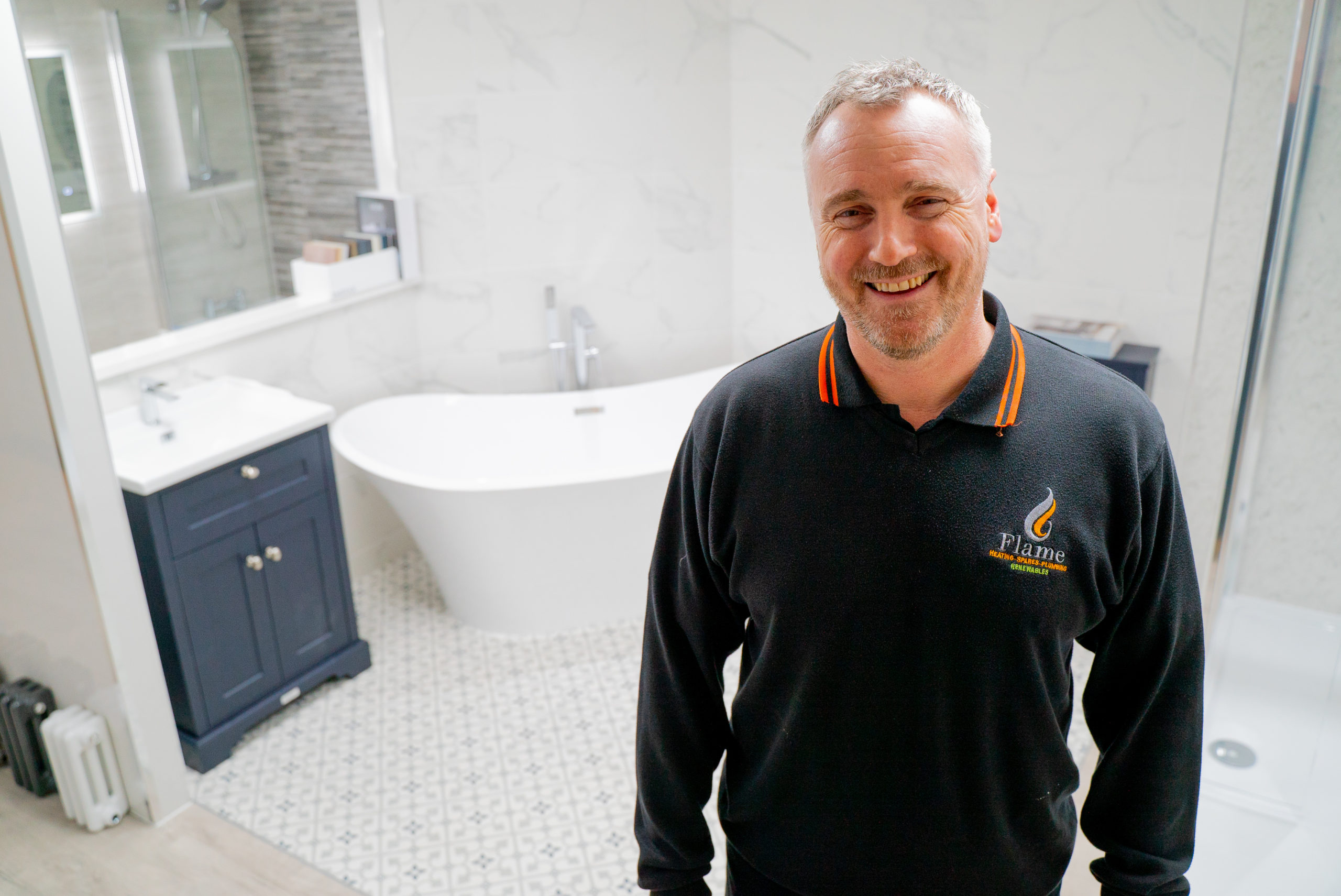 Flame Heating opens bathroom showroom in Stockton