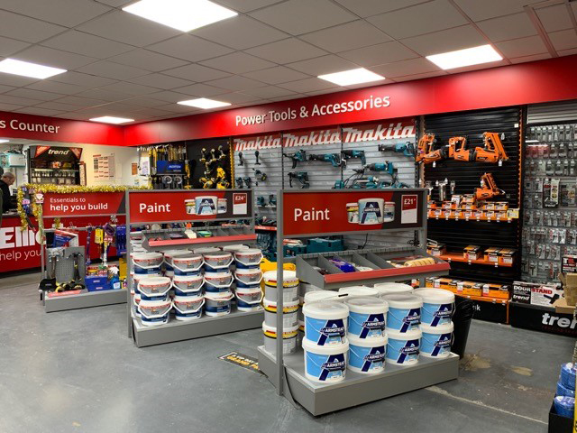 Ripple has transformed Elliotts builders' merchants' Ringwood branch in Hampshire, creating a new interior format and design