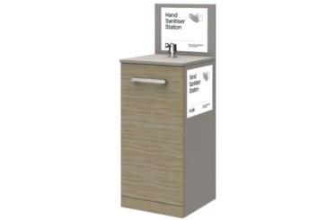 nuie launches hand sanitiser station range