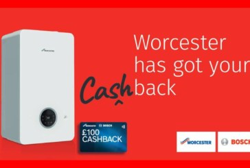Worcester Bosch offers installers up to £100 cashback