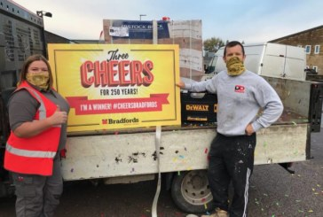 Bradfords gives 'Three Cheers For 250 Years'
