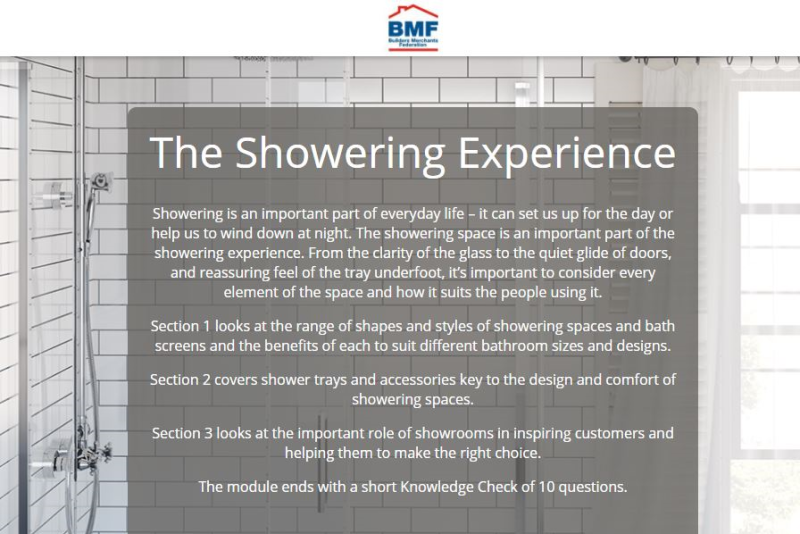Lakes develops merchant e-Learning module for showering spaces