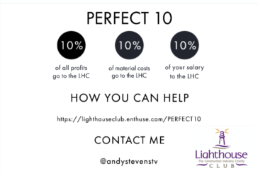 The Lighthouse Construction Industry Charity supported by Perfect 10 project