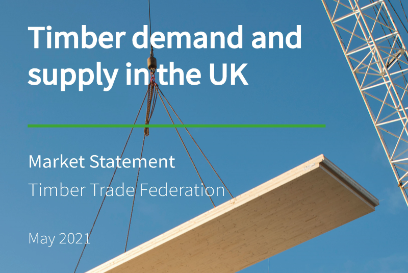 TTF issues market statement on demand and supply of timber in the UK