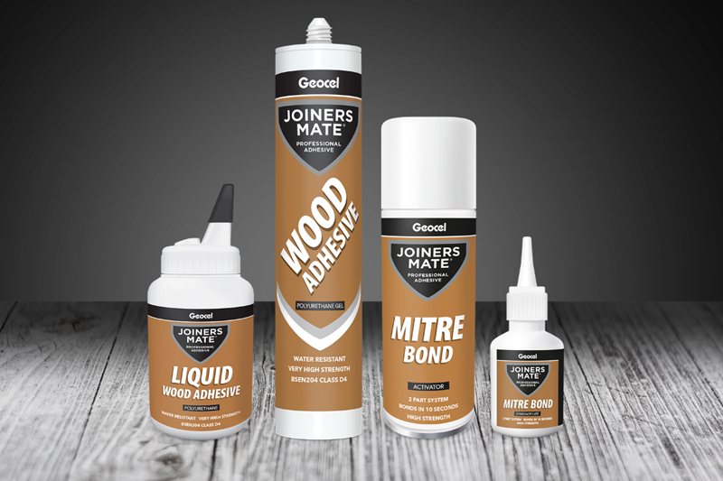 Geocel has relaunched its popular Mate range, including all its Trade Mate and Joiners Mate products, in all-new packaging.