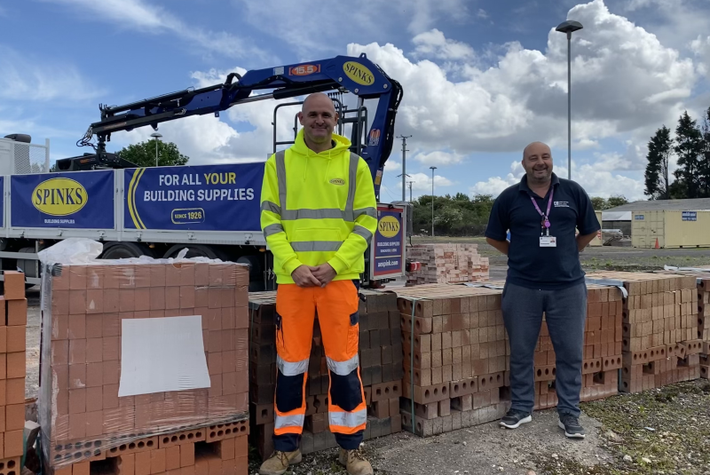 Spinks donates thousands of bricks to Doncaster college