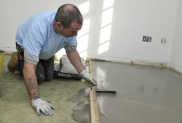 Floor levelling products with Setcrete